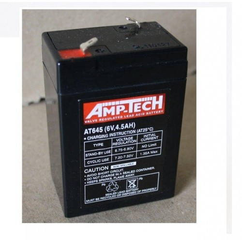 6V 4.5 Amp Hour Sealed Lead Acid Battery (SLA)