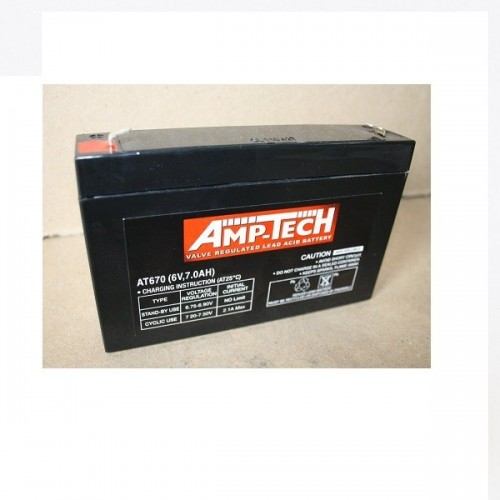 6V 7 Amp Hour Sealed Lead Acid Battery (SLA)