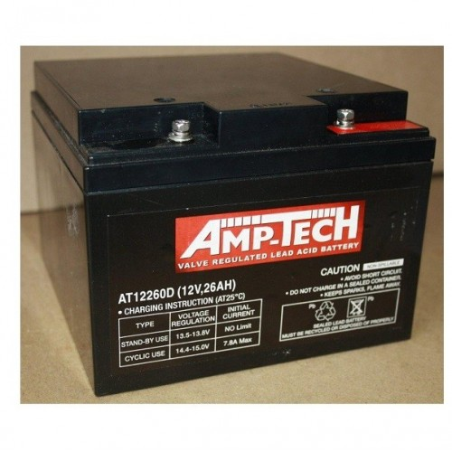 12V 26 Amp Hour Sealed Lead Acid Battery (SLA)